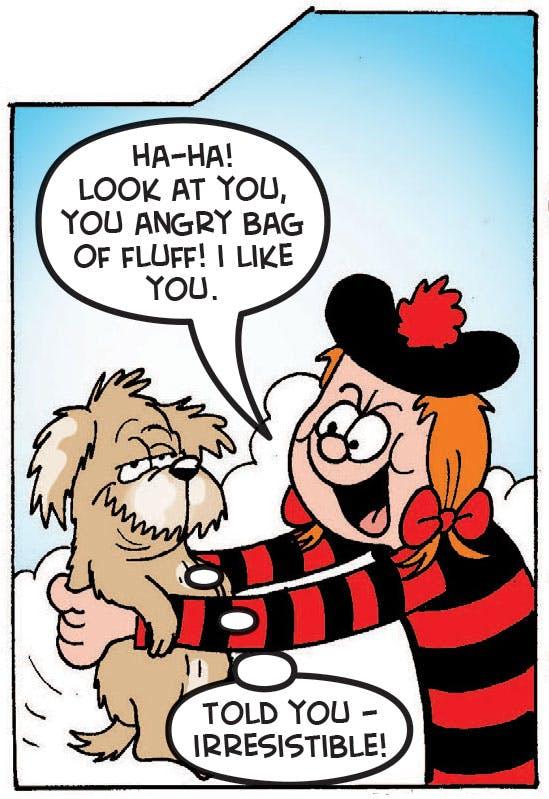 Minnie the Minx and dog