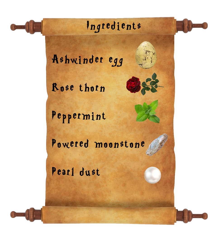 Harry Potter potion list - Amortentia ingredients