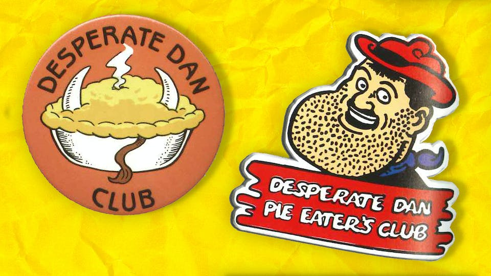 Desperate Dan Pie-Eater's Club Badges