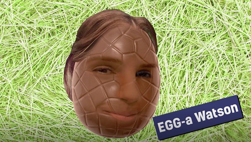 Emma Watson as an Easter egg
