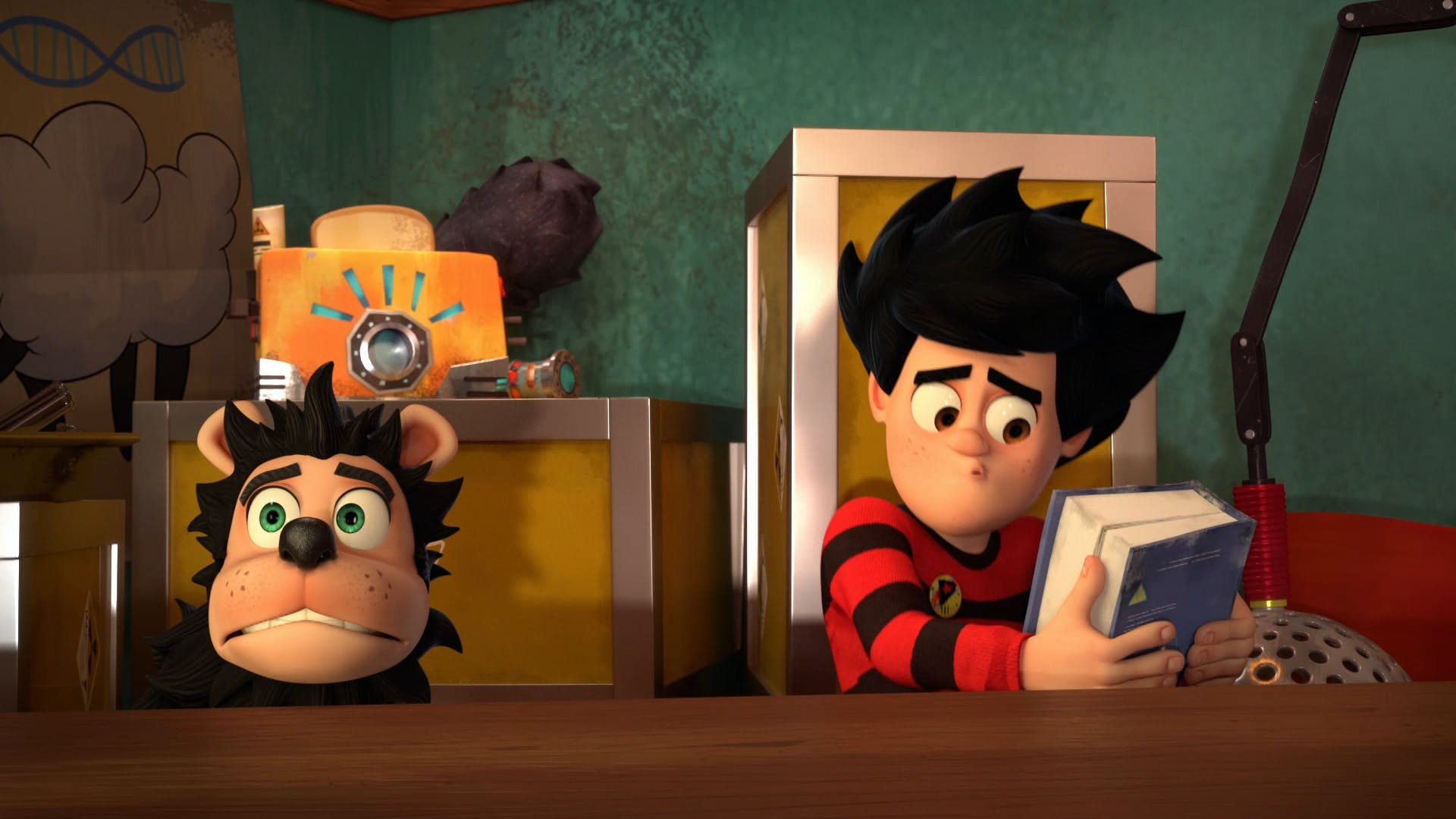 Dennis and Gnasher hide by the toaster
