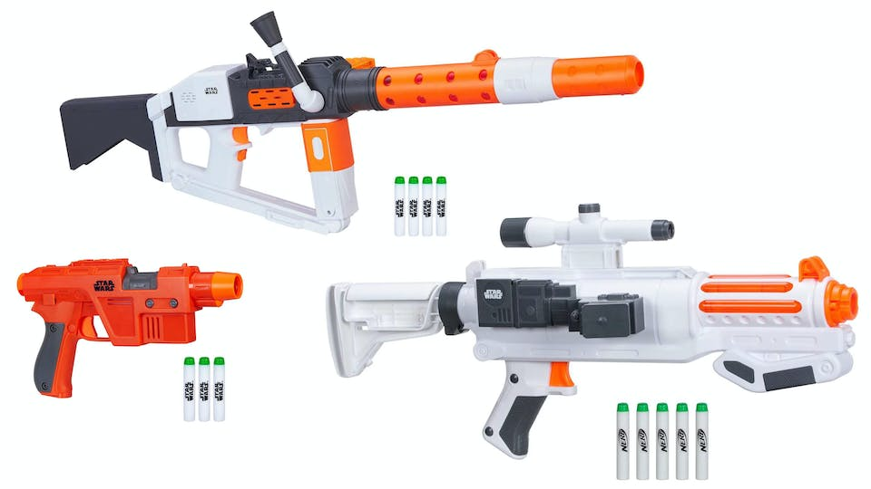 Collect all these awesome blasters!