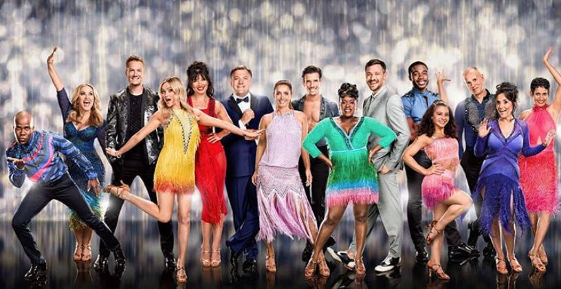 The cast of BBC 1's Strictly Come Dancing