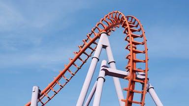 A huge rollercoaster