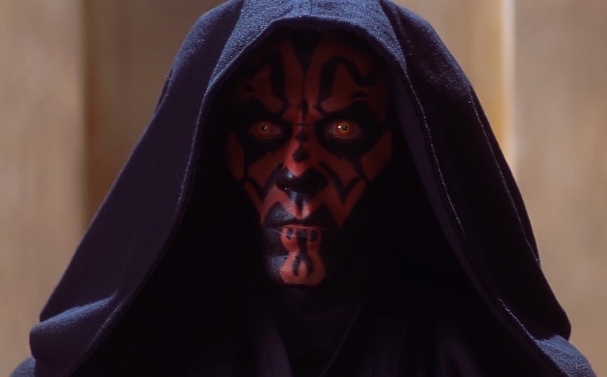 Star Wars villains: Darth Maul in The Phantom Menace