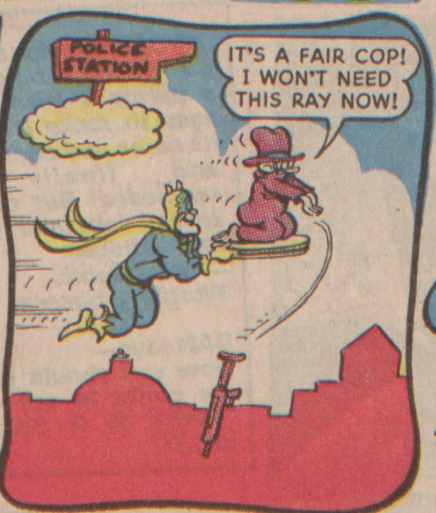 Bananaman 1985 - Gloom drops the sneeze gun