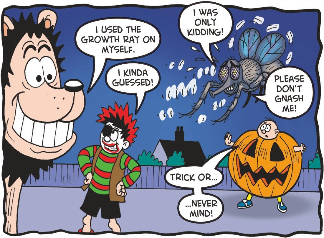 Dennis and Gnasher save the day!
