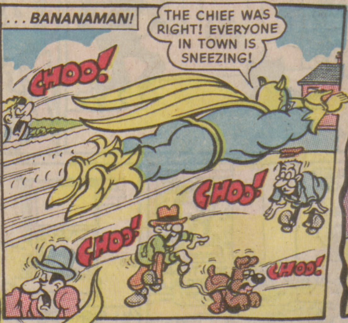 Bananaman 1985 - Everyone is sneezing!