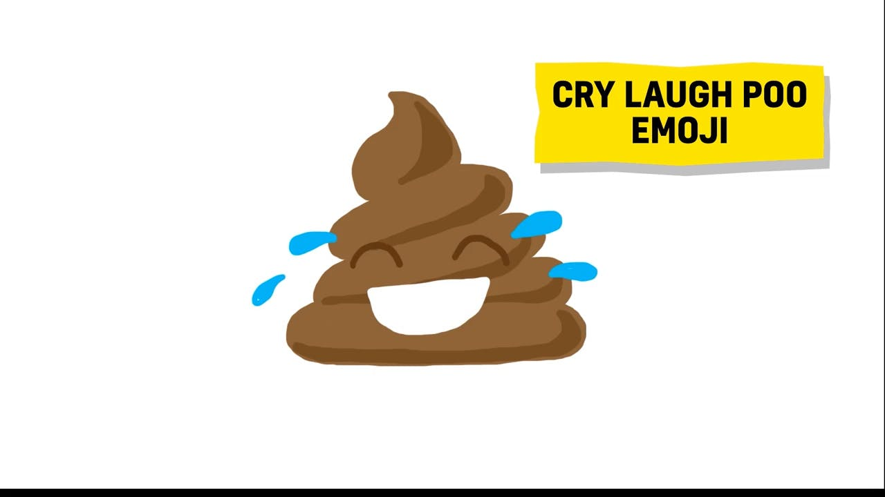 cry laugh poo emoji