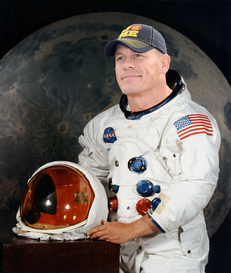 John Cena preparing to go and fight space