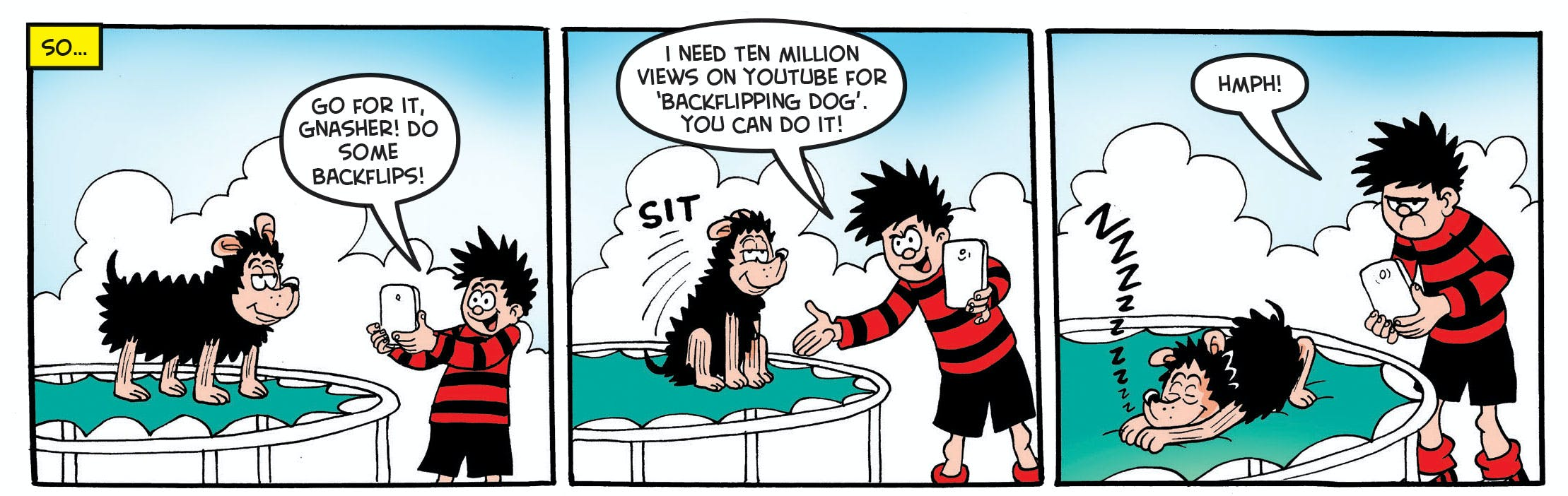 Dennis knows Gnasher can be a star