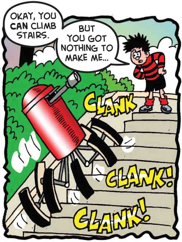 The postbox climbs the stairs