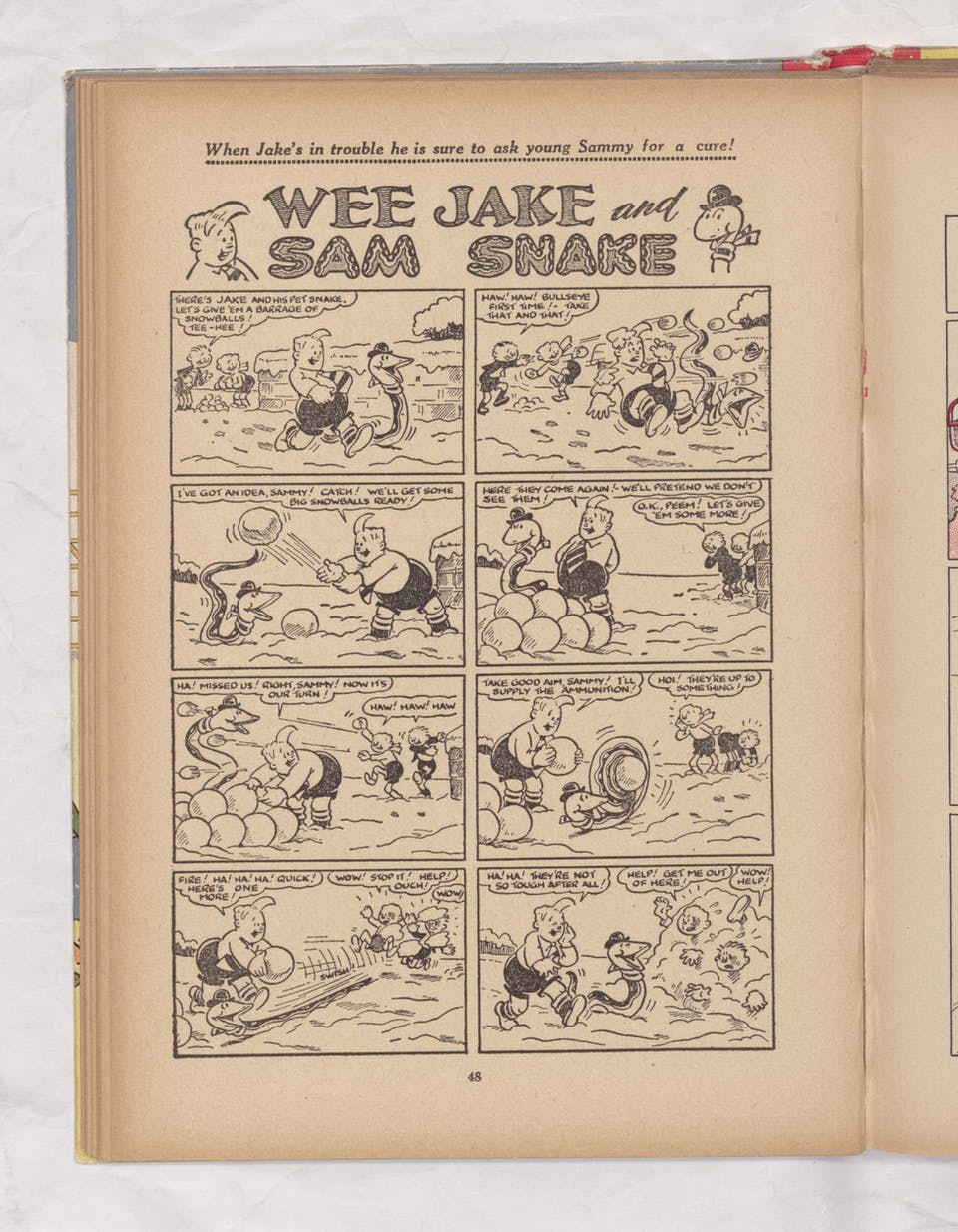Wee Jake and Sam Snake - Beano Book 1951 Annual