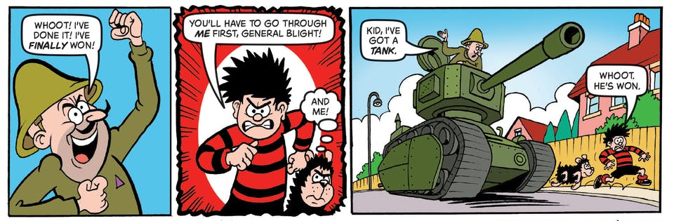 Inside Beano 4022 - Dennis and Gnasher