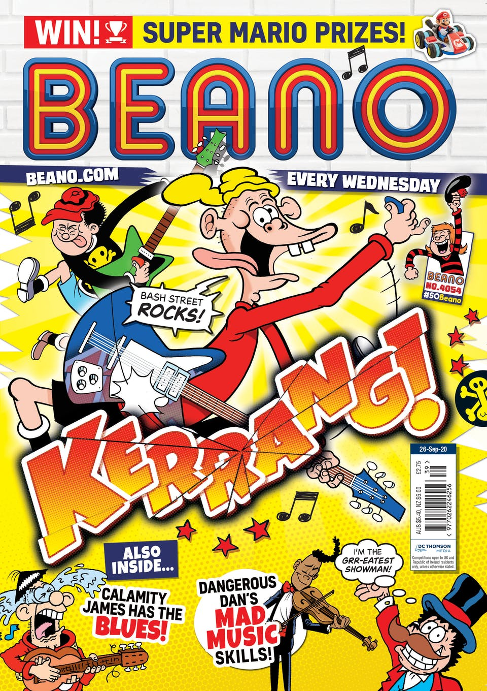 Inside Beano no.4053  - Bash Street Faces The Music!