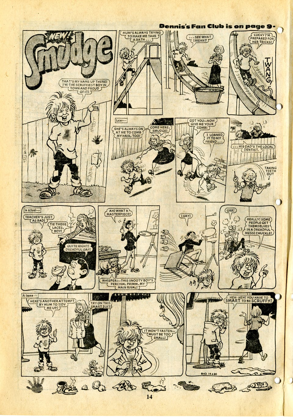 Smudge No. 1 - 19th April 1980 - Full Page