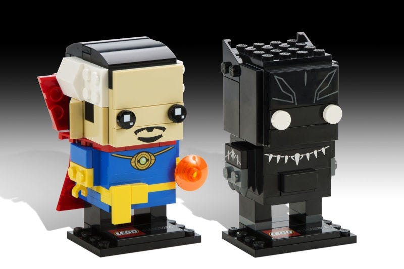 Lego Dr Strange and Black Panther