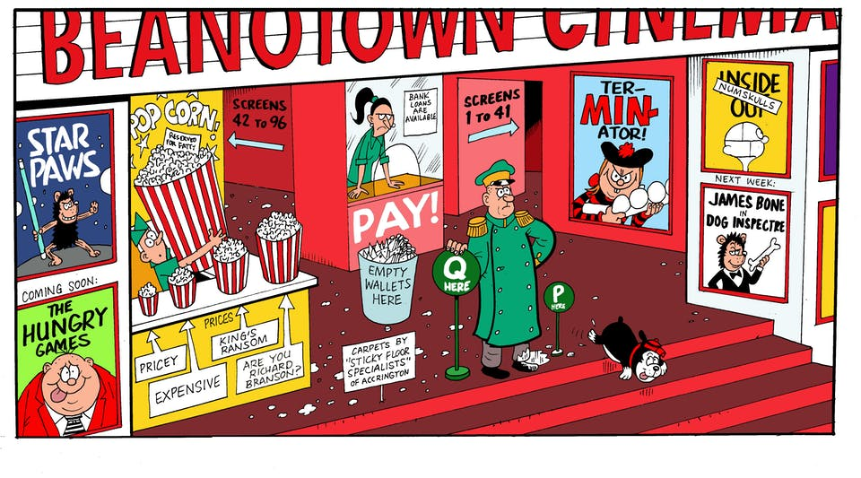 Beanotown cinema from Beano