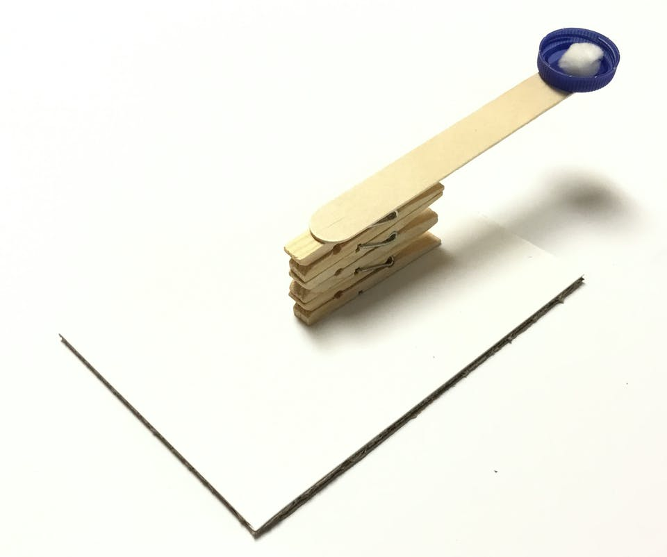 Minnie the Minx's clothes peg catapult