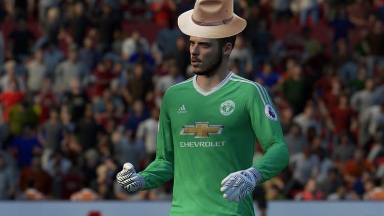 David de Gea wearing a hat