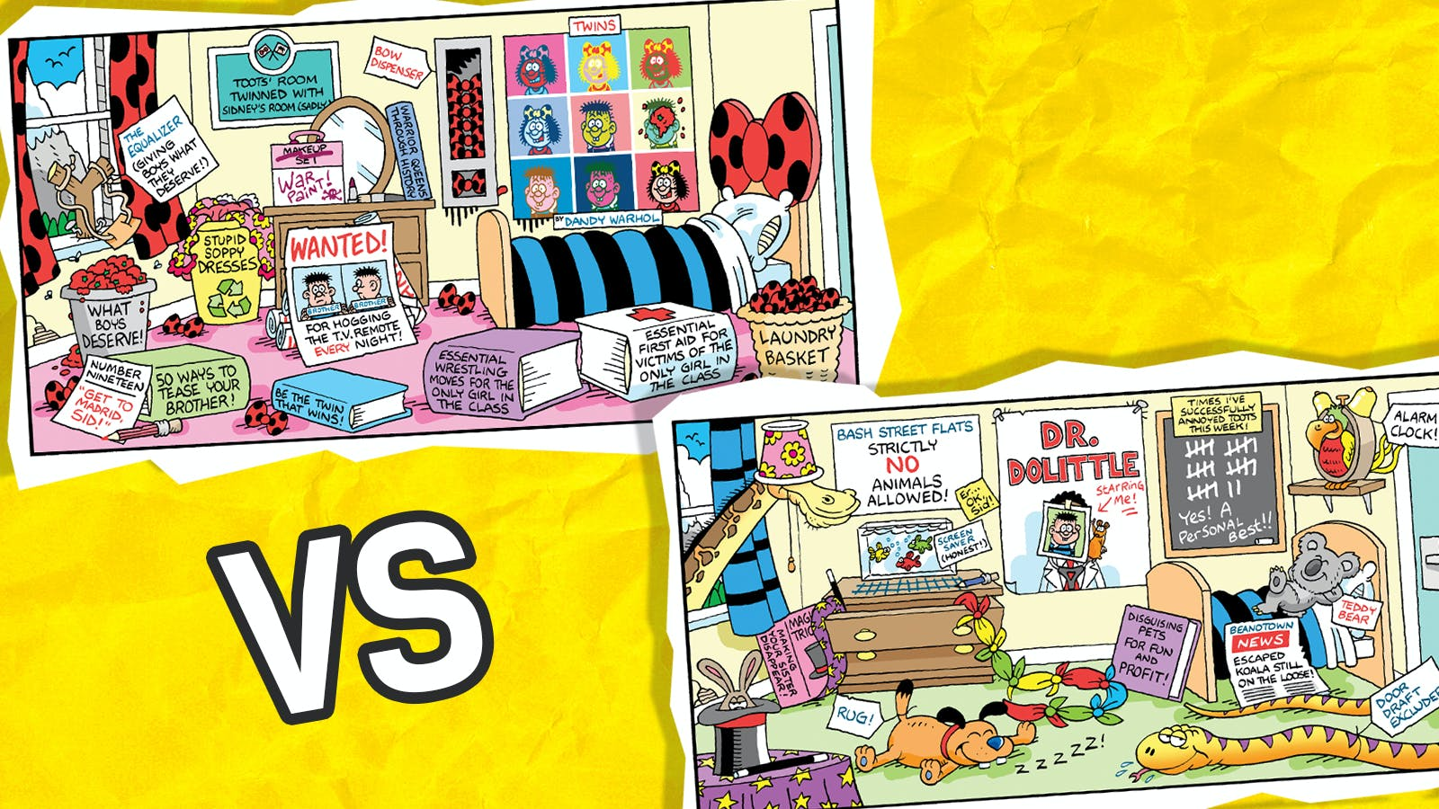 Head2Head - Toots v Sidney - No Brother's Allowed Bedroom? Or the Pet Animal Paradise?