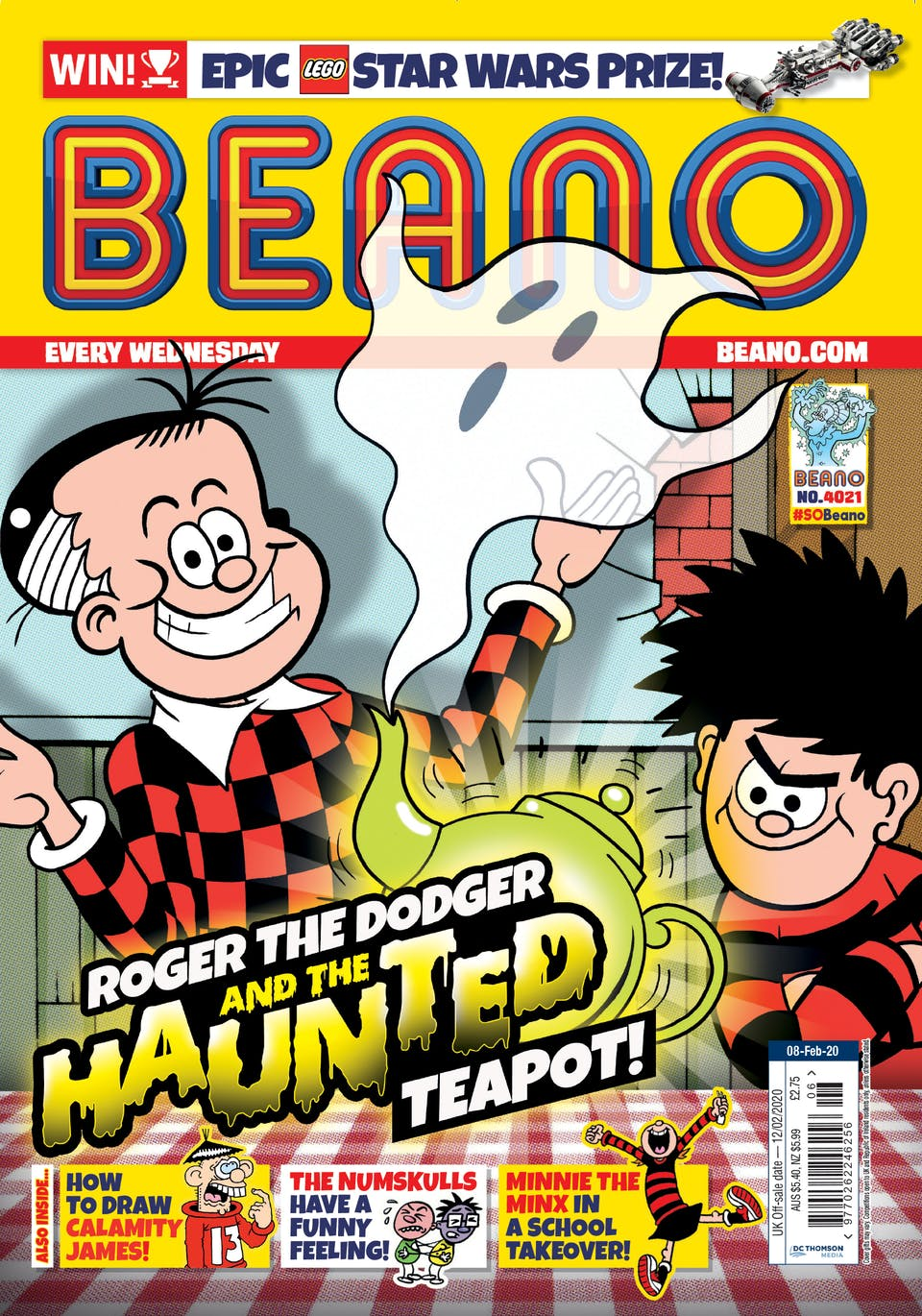 Inside Beano 4021 - Rodger the Dodger and the haunted teapot