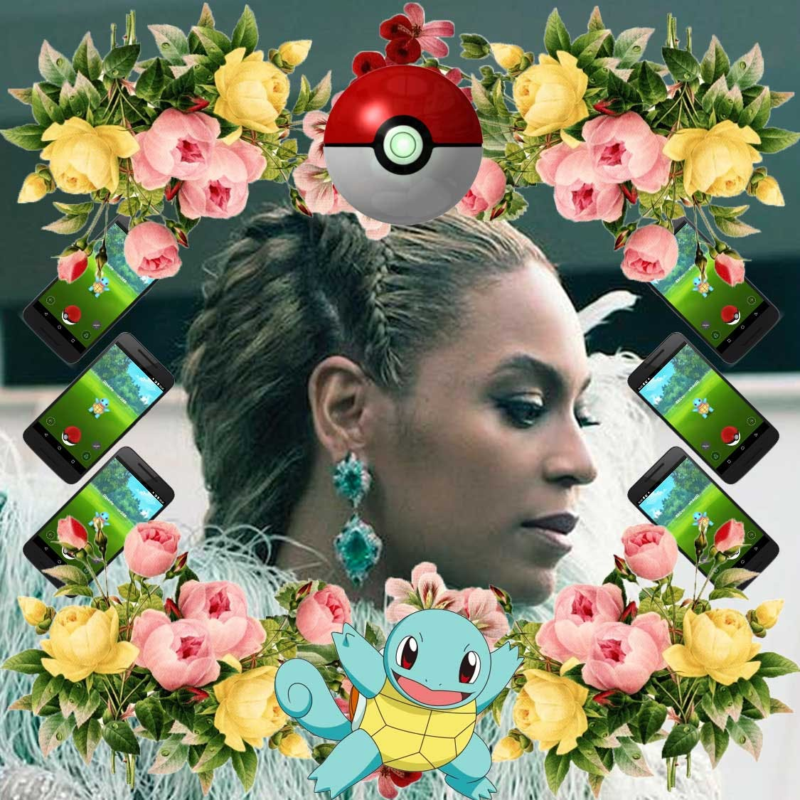 Beyonce telling the world she finally got Squirtle