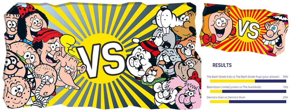 Bash Street Kids versus Pups