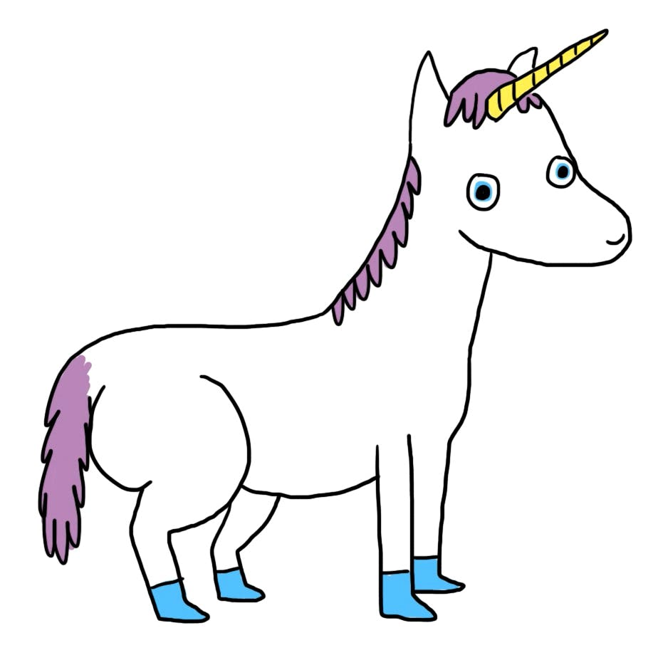 a coloured unicorn