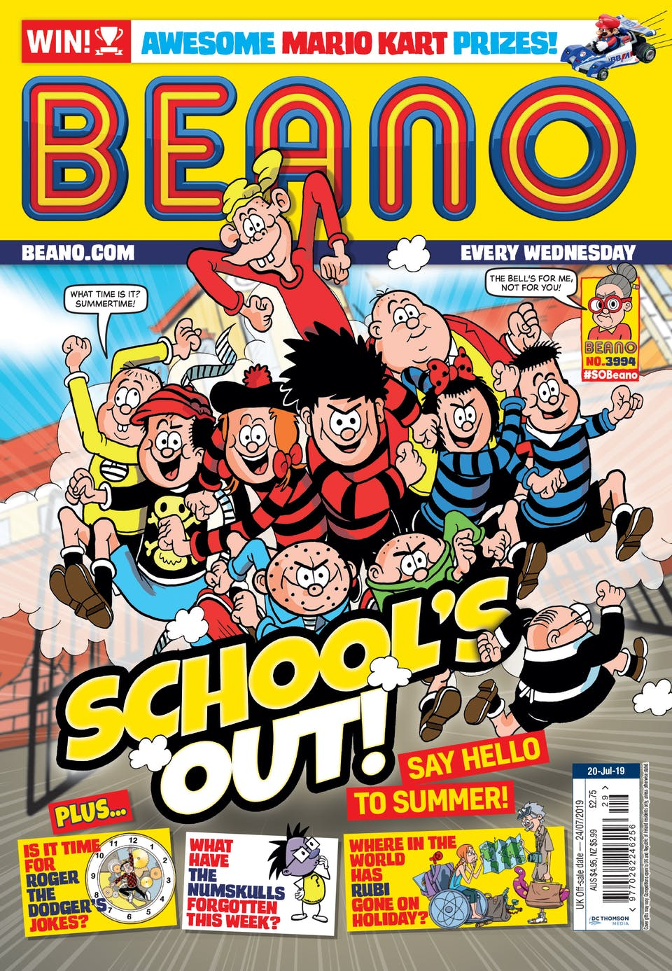 Inside Beano no. 3994 - School's Out!