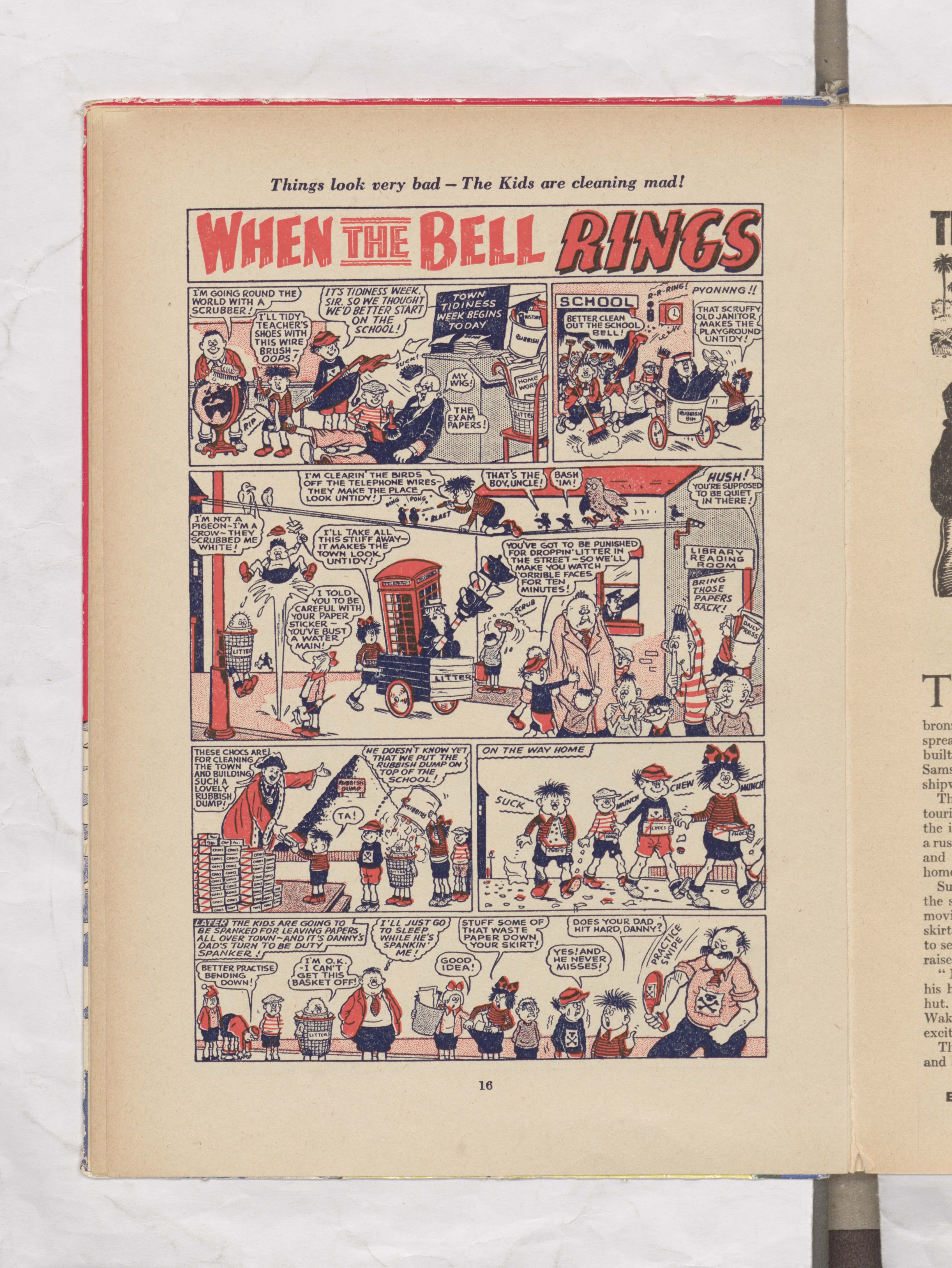 When the Bell Rings - Beano Book 1956 Annual