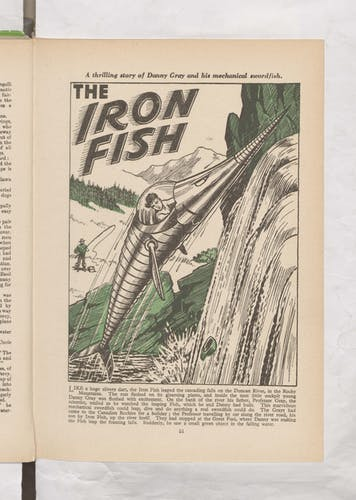 the iron fish Beano Book 1957 Annual