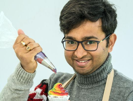 Great British Bake Off contestant Rahul