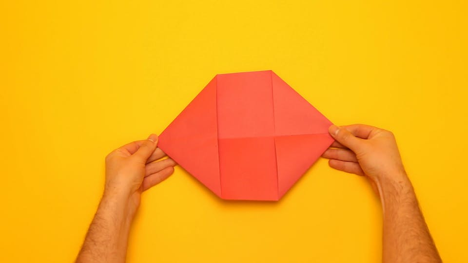 Paper popper making - fold the corners