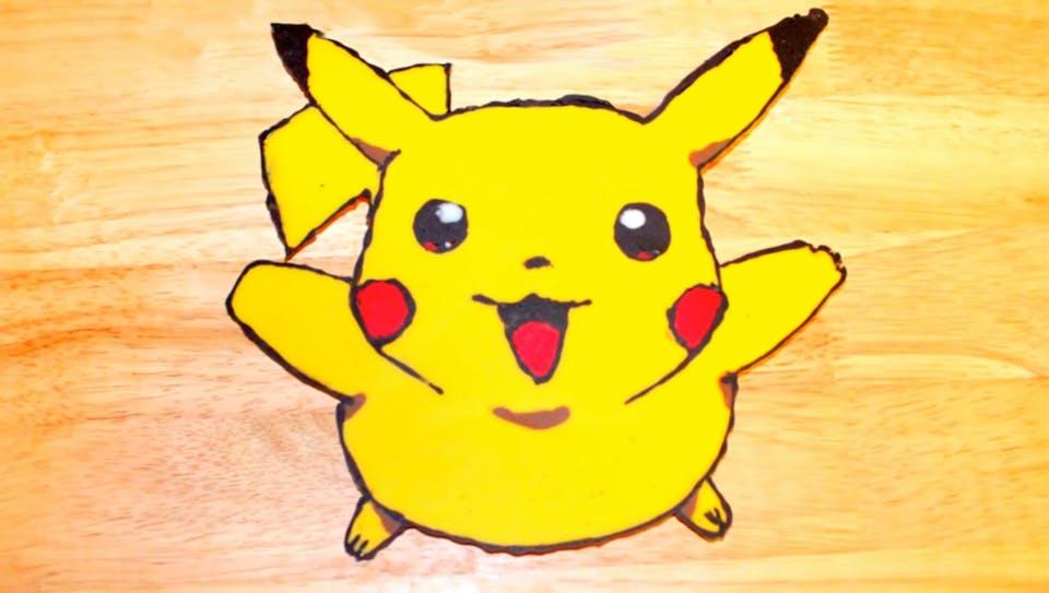 Pikachu Chocolate Cake Topper