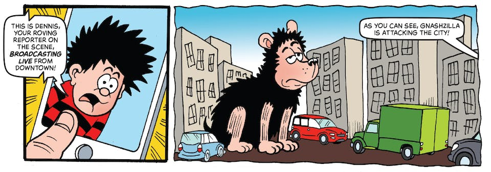 Beano 3998 - Dennis and Gnasher