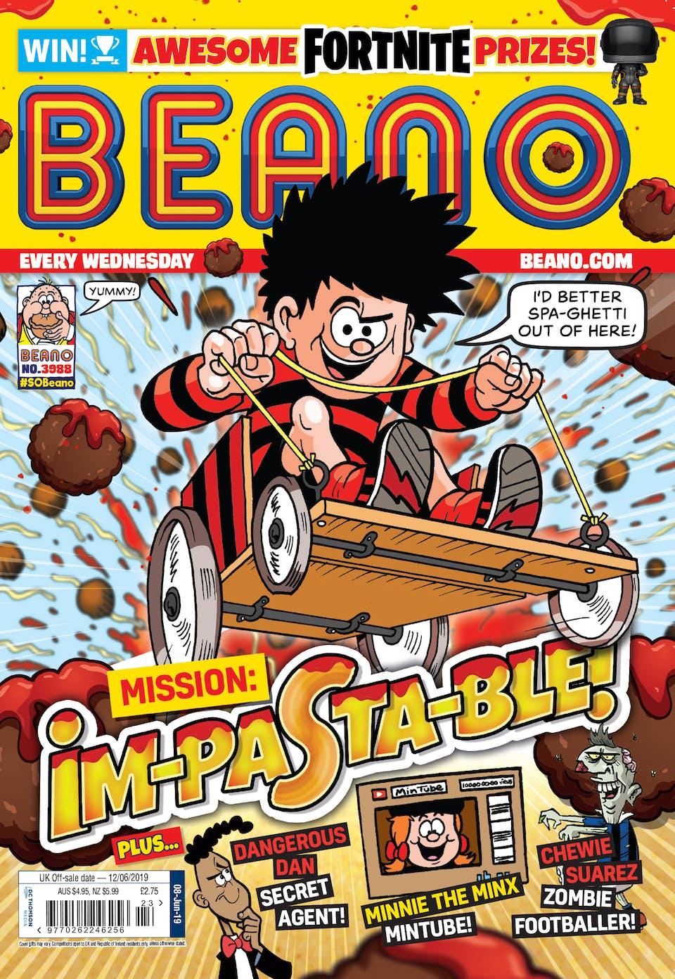 Inside Beano 3988 - Mission Im-pasta-ble!