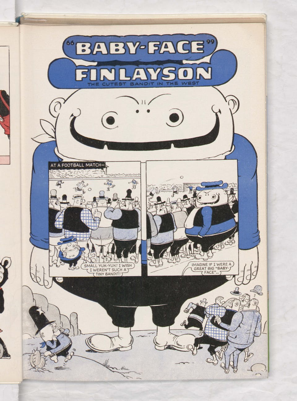Beano Book 1974 Annual - Baby Face Finlayson at the footie