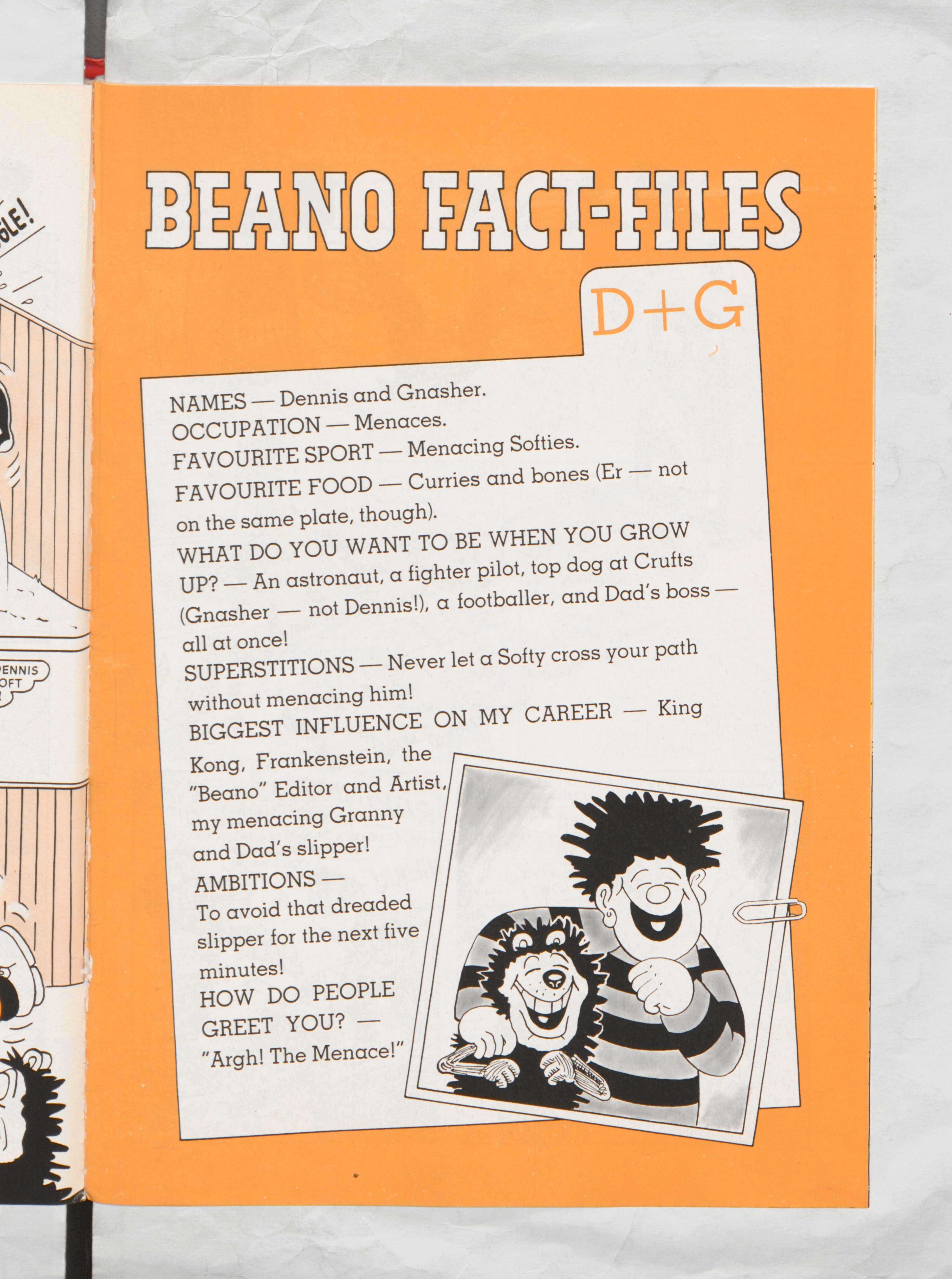 Dennis and Gnasher Beano Book 1987 Annual