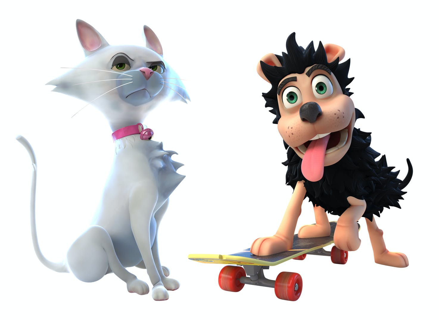 Clawdia and Gnasher from the 2017 TV animation series Dennis & Gnasher Unleashed!