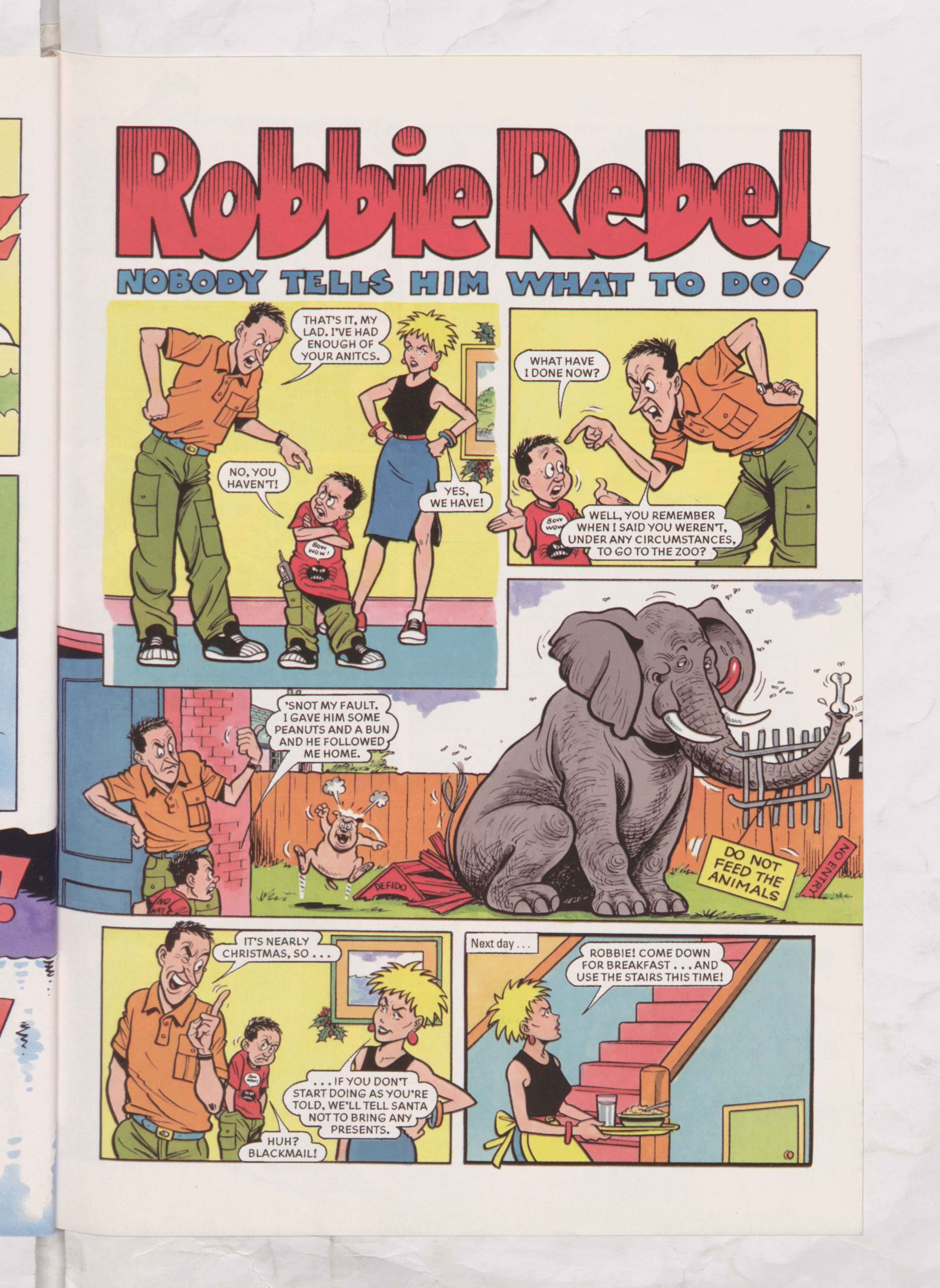 Robbie Rebel - Beano Book 2003 Annual