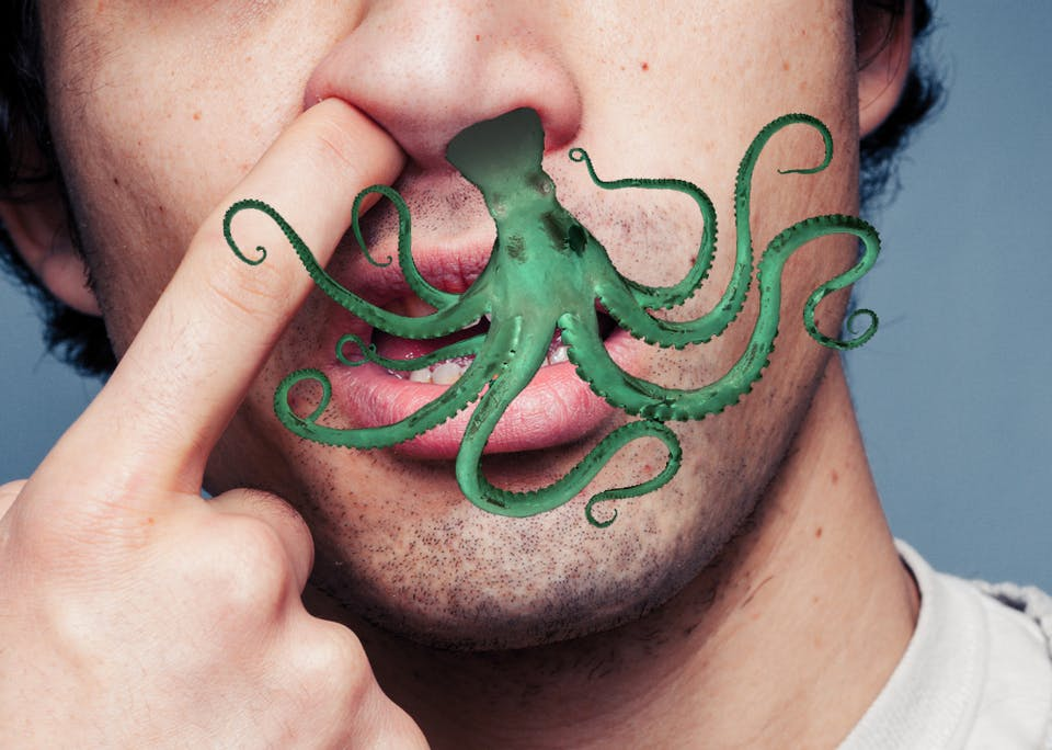 Octopus in a nose