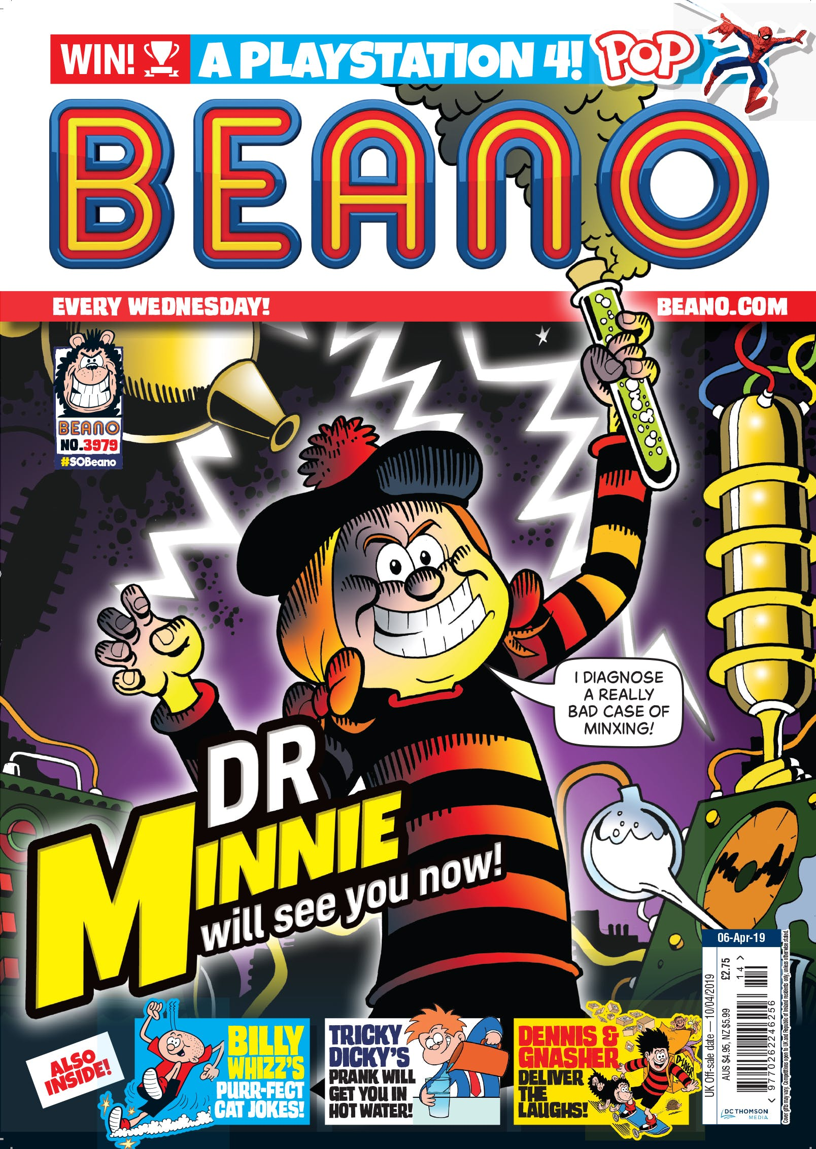 Beano no. 3979. Dr Minnie will see you now!